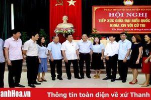 Đoàn ĐBQH tỉnh tiếp xúc cử tri tại các huyện Yên Định và Thọ Xuân