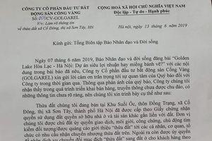 Đại diện Cty Cổng Vàng thừa nhận: Không có dự án Golden Lake Hòa Lạc!