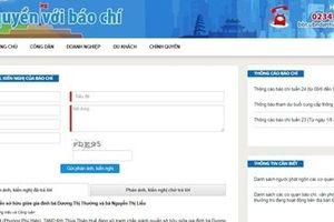 Thừa Thiên – Huế ra mắt kênh thông tin tương tác 'Chính quyền với báo chí'