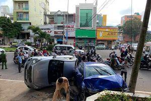 Xe hơi gây tai nạn liên hoàn ở Gia Lai, 6 người trọng thương