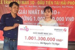 Vietlott – Max 3D: Nữ thợ may Hải Phòng trúng giải tỷ đồng