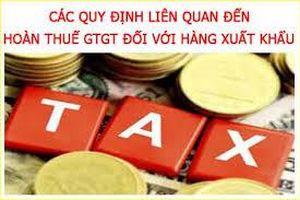 Hướng dẫn hoàn thuế đối với hàng hóa, dịch vụ xuất khẩu