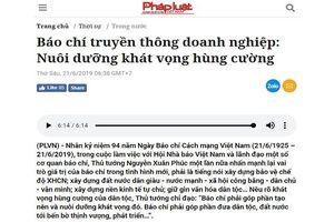 Ra mắt Báo nói Pháp luật Việt Nam