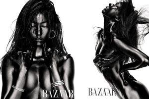 Siêu mẫu Hàn lọt top 1 tìm kiếm vì nhuộm đen người, khỏa thân trên tạp chí