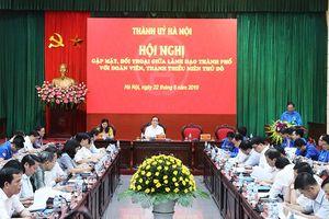 Bí thư Thành ủy Hoàng Trung Hải đối thoại với đoàn viên, thanh thiếu niên Thủ đô