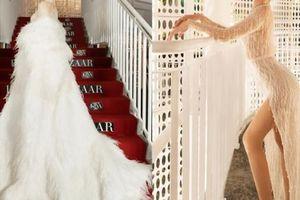 Đông Nhi chơi trội với chiếc váy hao vải như dùng để quét sàn