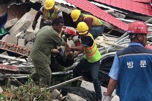 Sập tòa nhà Trung Quốc thi công ở Campuchia, gần 30 người thương vong
