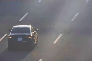 Phát hiện xe ôtô cố tình đi lùi trên cao tốc Hà Nội-Hải Phòng