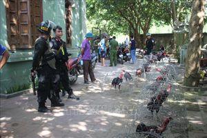 Vây bắt trường gà quy mô lớn, một chiến sĩ cảnh sát cơ động bị thương
