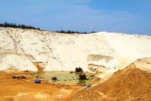 Trượt cát tại mỏ khai thác ti tan khiến 1 người mất tích