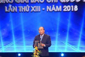 Thủ tướng dự Lễ trao Giải Báo chí quốc gia lần thứ XIII- năm 2018