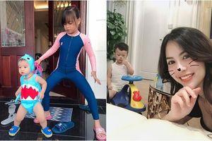 Cuối tuần của các hot mom: Hằng Túi hớn hở làm 'osin' đưa con đi bơi, vợ cũ Việt Anh vẫn tươi tắn dù sụt 5kg sau ly hôn