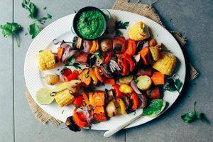 Tự làm xiên nướng rau củ cho bữa ăn chay thanh đạm