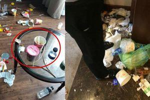 Khách rời đi, nhân viên dọn phòng choáng váng chứng kiến bãi rác trong khách sạn