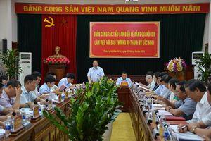 Đoàn công tác Tiểu ban Điều lệ Đảng Đại hội XIII làm việc tại Bắc Ninh