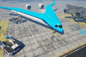 Máy bay hình chữ V đỡ tốn nhiên liệu hơn hẳn máy bay truyền thống