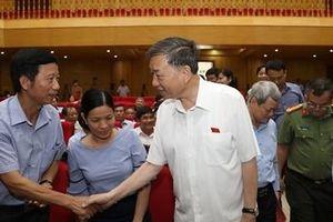 Bộ trưởng Tô Lâm tiếp xúc cử tri tại huyện Thuận Thành, Bắc Ninh
