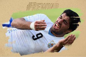 Tình huống cắn Chiellini khiến Suarez bị cấm chơi bóng 4 tháng
