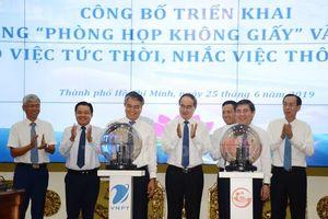 TP Hồ Chí Minh: Triển khai phòng họp không giấy và ứng dụng nhắc việc thông minh