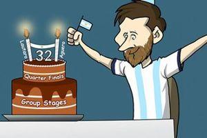 Ảnh chế: Argentina thoát hiểm Copa America tặng quà sinh nhật Messi