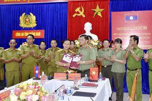 Hội nghị hợp tác thường niên giữa Công an tỉnh Quảng Nam và Sở An ninh tỉnh Sê Kông