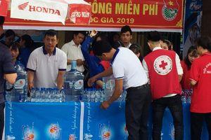 THAIBINH PSC tài trợ gần 20.000 lít nước khoáng Tiền Hải tiếp sức mùa thi