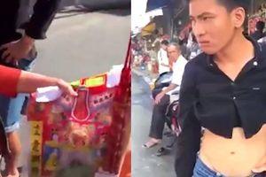 Kẻ lưu manh lấy 3 cây nhang giá 150 ngàn gần chùa bà Châu Đốc còn chửi phụ nữ