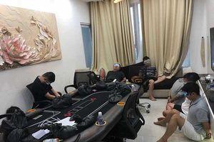 Phá sòng bạc poker 'khủng' trong chung cư hạng sang ở Sài Gòn