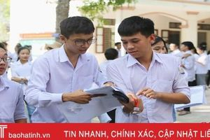 Sáng nay, hơn 12.500 thí sinh Hà Tĩnh thi tổ hợp khoa học xã hội