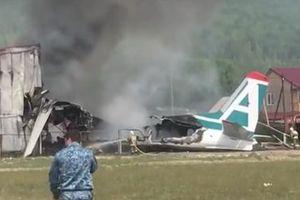 Máy bay An-24 của Nga rơi ở Siberia, 2 người chết, 7 người bị thương