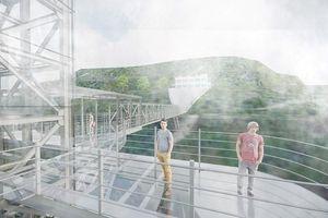 Những hình ảnh mới nhất về cầu kính Ô Quy Hồ sắp khai trương