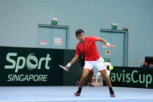 Thắng Singapore, tuyển quần vợt nam Việt Nam vững ngôi đầu bảng Davis Cup