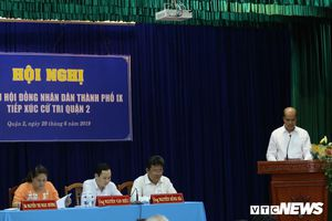 Sau kết luận thanh tra, đại biểu Hội đồng nhân dân TP.HCM tiếp xúc cử tri Thủ Thiêm