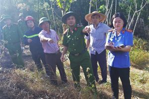 Nghi phạm gây cháy rừng khai đốt rác ở gần rừng phòng hộ