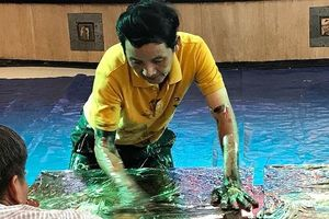 Họa sĩ Đoàn Việt Tiến xác lập kỷ lục thế giới vẽ tranh sơn dầu bằng tay