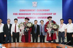 2 giáo sư người Italia được trao chức danh Giáo sư Danh dự vì đóng góp to lớn cho y học Việt Nam