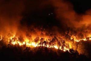 Cháy rừng ở Hà Tĩnh: Lửa bùng phát dữ dội ở nhiều nơi