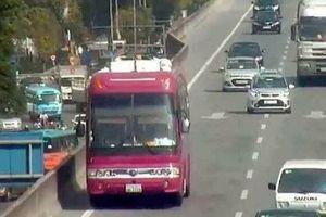 Phạt 1 triệu đồng lái xe khách biển Lào...đi lùi trên đường cao tốc trên cao tốc