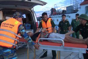 BĐBP Quảng Trị: Cứu nạn nhân gặp nguy kịch trên biển