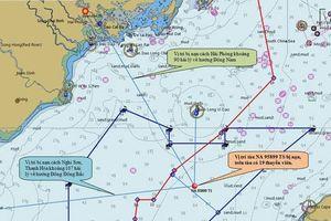 Xác định được vị trí tàu cá bị đâm chìm gần đảo Bạch Long Vĩ