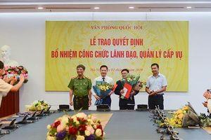 Văn phòng Quốc hội trao một loạt quyết định nhân sự
