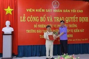 Trường đào tạo, bồi dưỡng nghiệp vụ kiểm sát tại TP Hồ Chí Minh có tân Phó hiệu trưởng