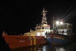 Tạm dừng tìm kiếm 9 ngư dân mất tích do áp thấp nhiệt đới