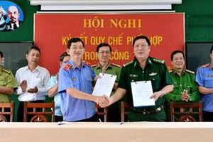 VKSND tỉnh Kiên Giang tổ chức Hội nghị ký kết quy chế phối hợp trong công tác với một số cơ quan