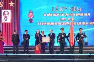 Quảng Ngãi tổ chức Kỷ niệm 30 năm ngày tái lập tỉnh
