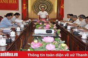 Thường trực Tỉnh ủy giao ban với các ban Đảng