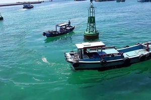 Chìm tàu chở hơn 50 ngàn lít dầu ở cảng Phú Quý