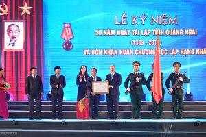 Quảng Ngãi kỷ niệm 30 năm tái lập tỉnh và đón nhận Huân chương Độc lập hạng Nhất