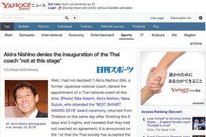 Vụ HLV Nishino từ chối tuyển Thái Lan: Đầu đuôi như thế nào?
