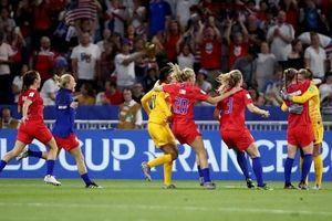 Mỹ vào chung kết sau chiến thắng kịch tính trước Anh